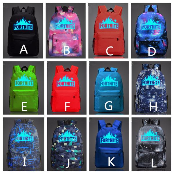 12 Colors 47*31*18 CM Fortnite Boys Girls' Backpacks Casual Teenagers Backpack Outdoors Bags Students School Bag Waterproof Large Capacity
