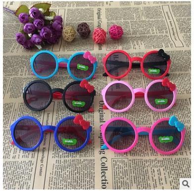 Compre Dibujos Animados Para Niños Gafas De Sol Redondas Pajarita Gafas Graduadas Cómodo Montura Gafas Lindas Para Niños A 102 Del Emma12345