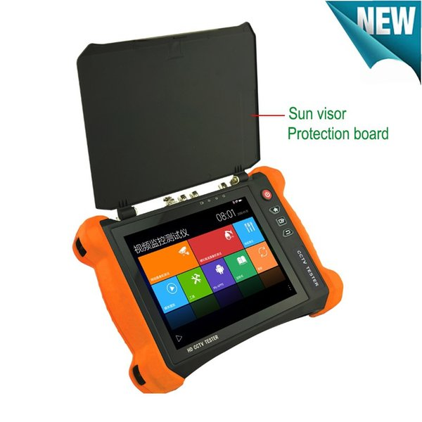 Newest 8 Inch Full Functional H.265 4K 6 In 1 H.265 4K H.264 IP TVI 8MP CVI 5MP AHD 2MP SDI Analog CCTV Camera Tester Monitor