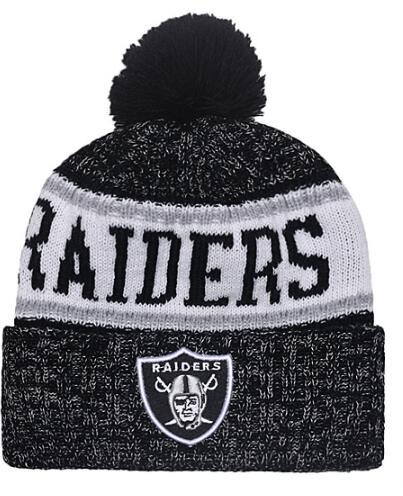 Discount Price Fashion Beanie Sideline Cold Weather Graphite Sport Knit Hat All Teams winter Oakland Knitted Wool Skull Cap snapback