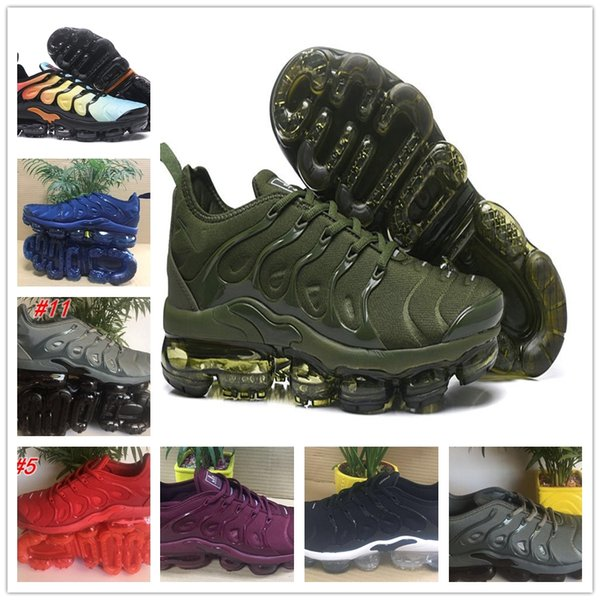 2768e3175604ec NEW WM TN Plus Olive In Metallic White Silver Colorways Shoes Men Running  Male Shoe Pack