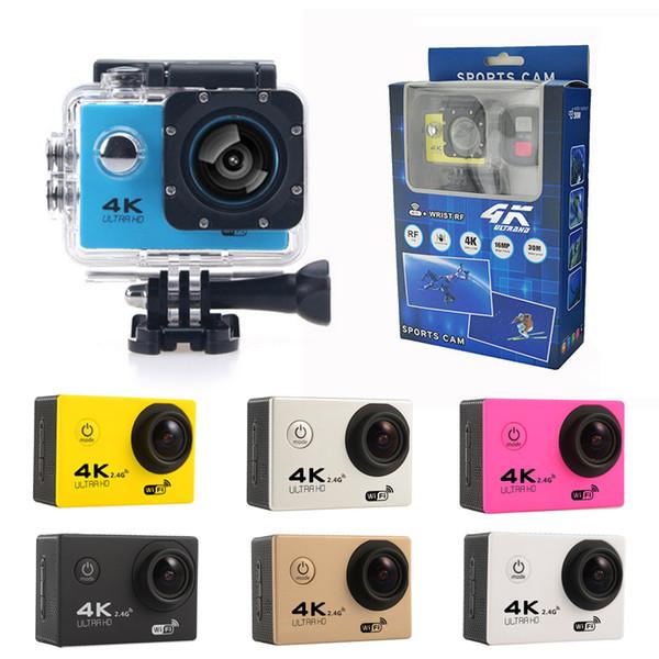 Più economico 4K videocamera per azioni F60 F60R WIFI 2.4G telecomando impermeabile videocamera sportiva 16MP / 12MP 1080p 60FPS videocamera subacquea