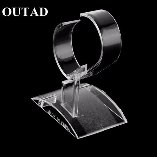 Trasparente Acrilico Orologio Display Stand Stand Rack Vetrina Strumento Trasparente Orologio Leggero Stand Custodia avvolgitore