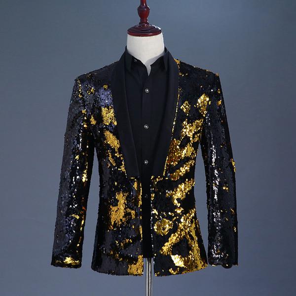 Siyah altın blazer