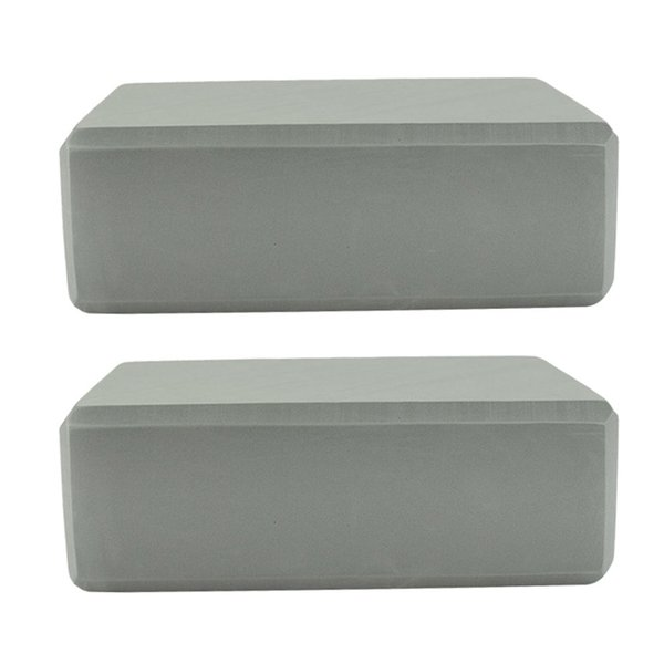 2 PCS Yoga Accessories Yoga Block Rectangular Bloster Pillow Cushion Anti-skid High Density EVA Foam Exercise Block (Grey)