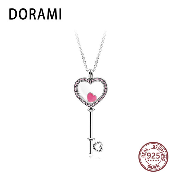 FANSER S Large Floating Locket Key Necklace A Logo 100% Pure Silver Foundation Fabricant En Gros Mail gratuit