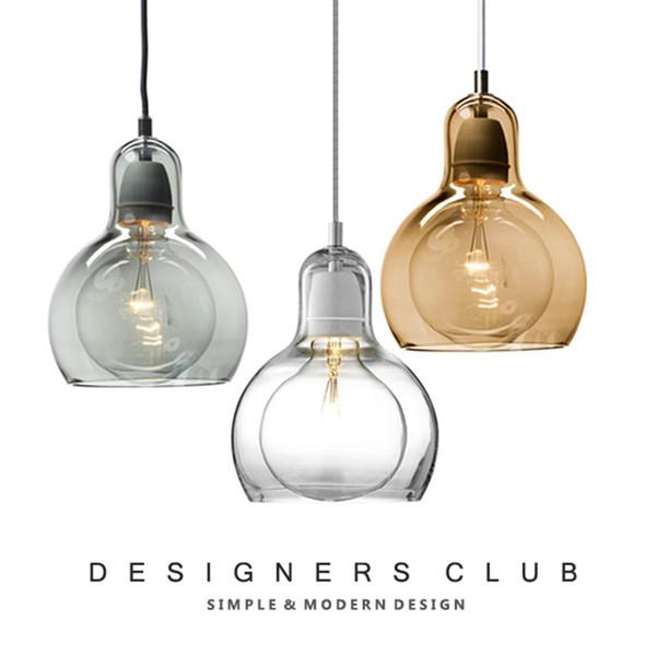 JESS Modern Pendant Light For Kitchen Big Bulb Lamp shade Globe Glass Pendant Lamp Cafe Home Lighting Fixtures Bar Hanging Lamp
