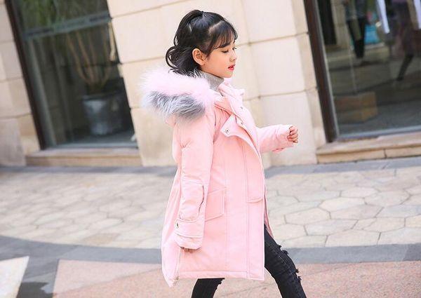 top popular Children's down jacket girls long girls 2018 new warm fashion Wholesale sales 2021