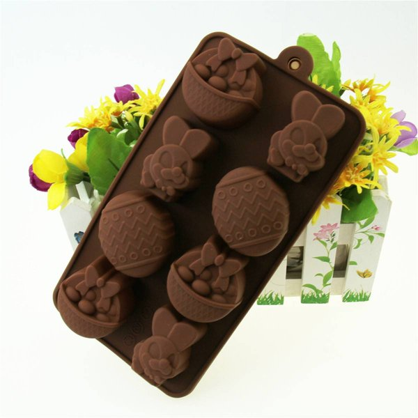 Easter Halloween Rabbit Egg Mold Ice Cube Silicone Bakeware DIY Model Cookie Chocolate Cake Booking Tool