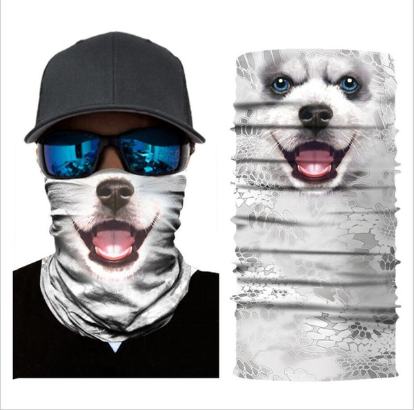 5 pcs/set 3D Animals Mask Cycling Bicycle Motorcycle Head Scarf Neck Warmer Face Mask Ski Balaclava Headband Lower Half Face Mask