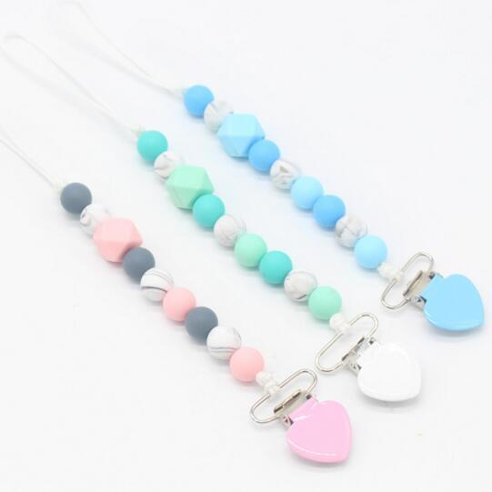 Silicone chain clip Anti-Drop Hanger Belt Holder Stroller Toys Lanyard Fixed Pacifier Car Toys Chain Clamp Anti-Swap Belt Clip
