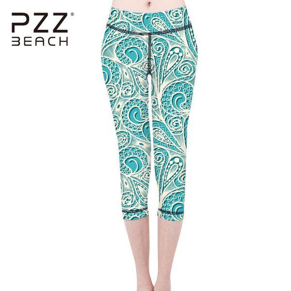 Compre Patrón Floral De La Vendimia Medias Leggings Pantalones De ...