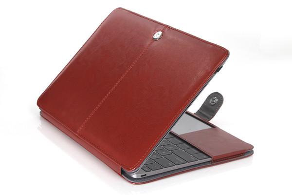 Cheapst! Custodia protettiva in pelle PU sottile per MacBook Air Pro con custodia retina 11 12 13 15 pollici
