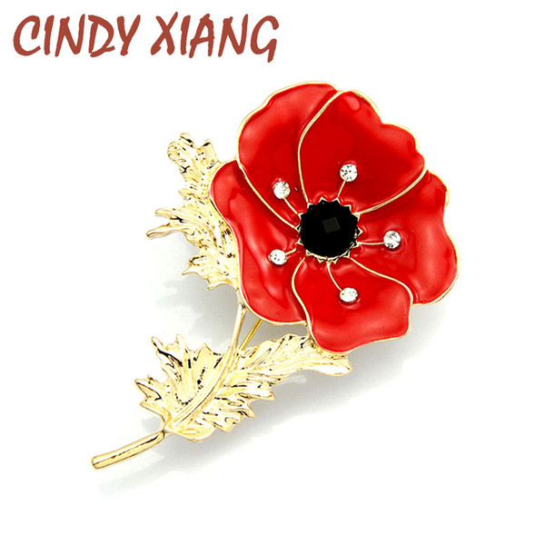 CINDY XIANG Hot Selling New Arrived New Style Crystal Enamel Flower with  Elegant Rhinestone Brooches Pins for Women Wholesale 86120661f3df