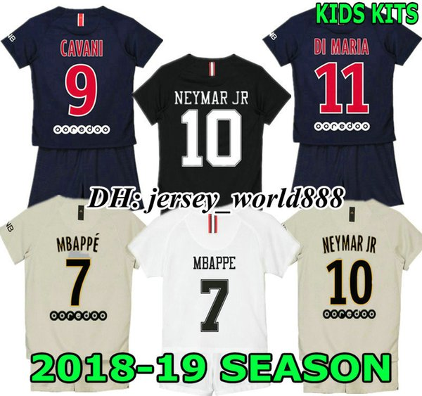 MBAPPE 18 19 kids NEYM AR JR soccer shirt Kits CAVANI VERRATTI PSG DI MARIA  MATUIDI T SIVA PARIS DRAXLER DANI ALVES X child Football Jersey 7be6e73b5