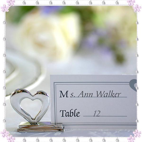 Titular do cartão de amor com cartão em branco coração em forma de titular do cartão de mesa romântico festa de casamento favor