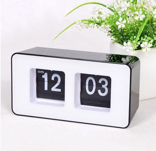Big Sale Retro Flip Classic Stylish Desk Auto Modern Wall Clock Square Fashion Digital Clock