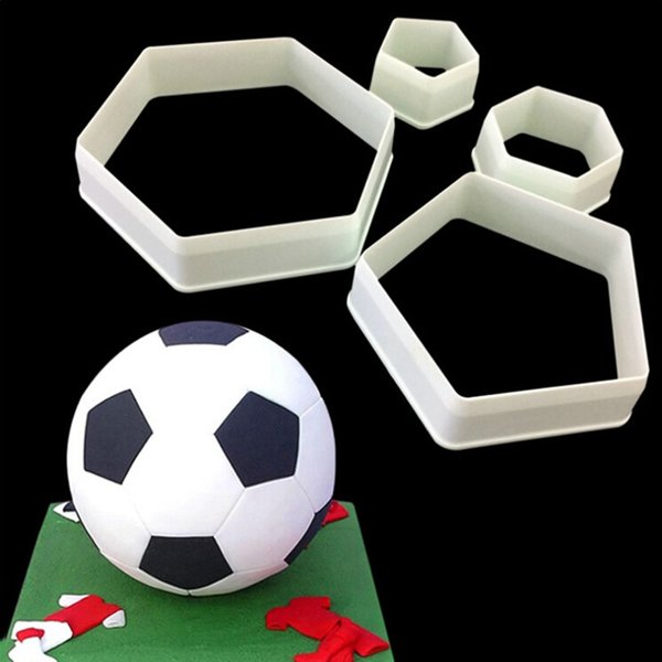 Football Fondant Cutter Plastic Cutter Fondant Molds Cake Decorating Molds Boy Birthday Cake Moulds Chocolate Gumpaste Moulds