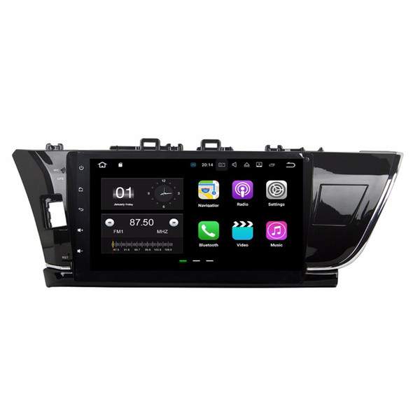 2GB RAM Android 7.1 Quad Core Car DVD Car Radio DVD GPS Multimedia Player for Toyota Corolla 2014 2015 With Bluetooth WIFI Mirror-link