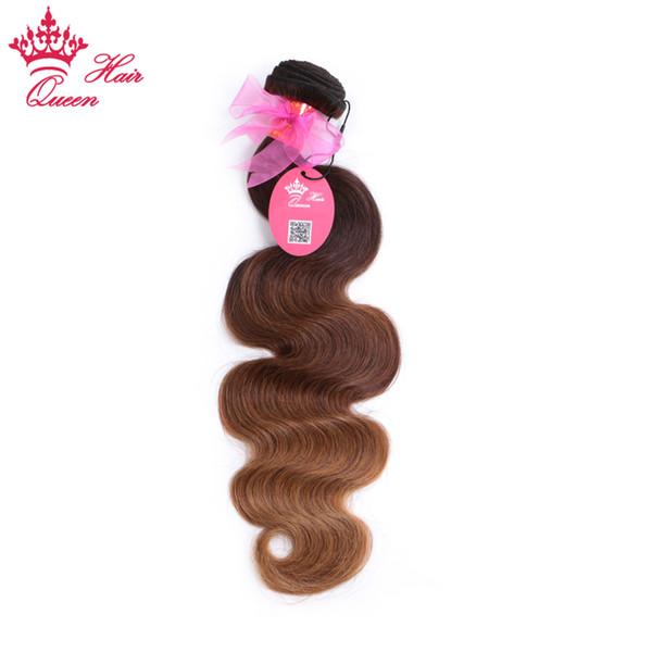 Queen Hair Products Ombre 3 Tone Color (#2/#6/#27) Brazilian Hair Body Wave 100% Virgin Human Hair Bundles Free Shipping