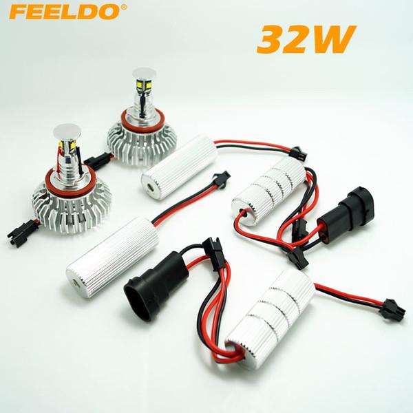 FEELDO H8 32W LED Angel Eyes HALO RING Glühlampen für BMW E92 / E60 / E70 / E89 / X5 / E71 / X6 mit OEM Xenon Scheinwerfern # 4255