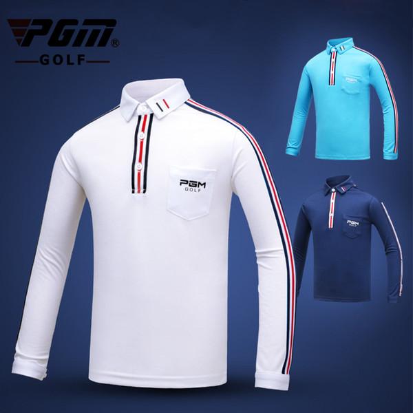 PGM Golf T Shirt For Men Breathable Training Teenager Sports Jersey Long Sleeve Winter Men Uniforms Shirts Boy Golf Clothing