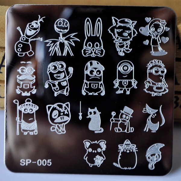 nail stamping plates cartoon stamping plate SP design nail art image plate Equipment Stamp Plates Manicure Template