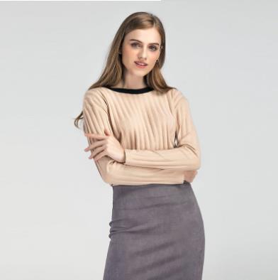 Горячий стиль 2018 европейской и американской моды женский темперамент спинки пуловеры трикотажа рендера без подкладки верхней одежды