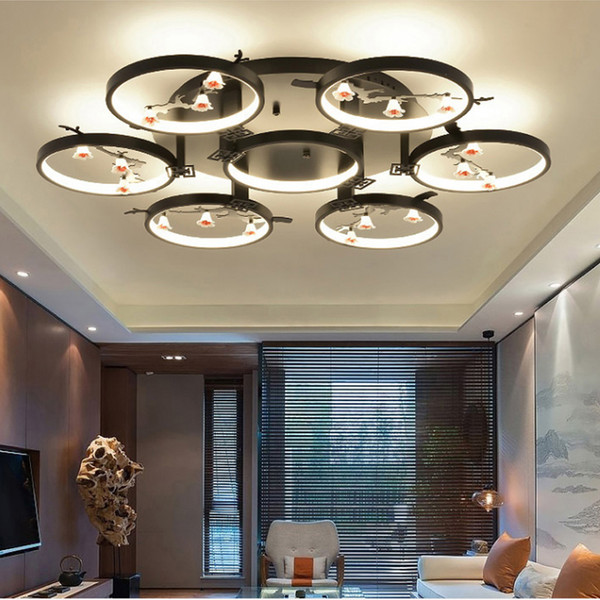 Room Led 2019 Led Living From Modern Hotel Style Chinese Room Ceiling Study Light Lanterns Club Decorative And Lamps Ceiling New Bedroom Retro Lamp mNOw8yn0v