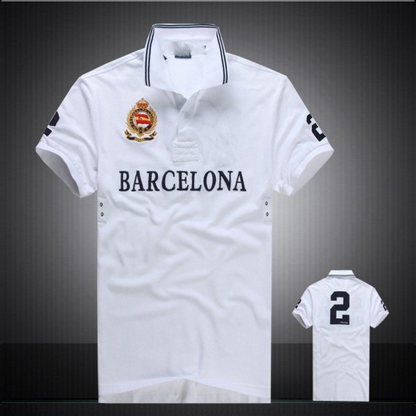 2018 New Men's Short Sleeve Polo Shirt T Shirt Brand London New York Chicago Polos Male Shirt Cotton High Quality Tops