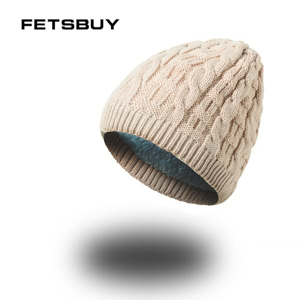 FETSBUY 2018 Winter Beanie Hat Scarf skullies beanies Soft Skull Warm Baggy Cap Mask Gorros Men Women Knitted Hat Knitted