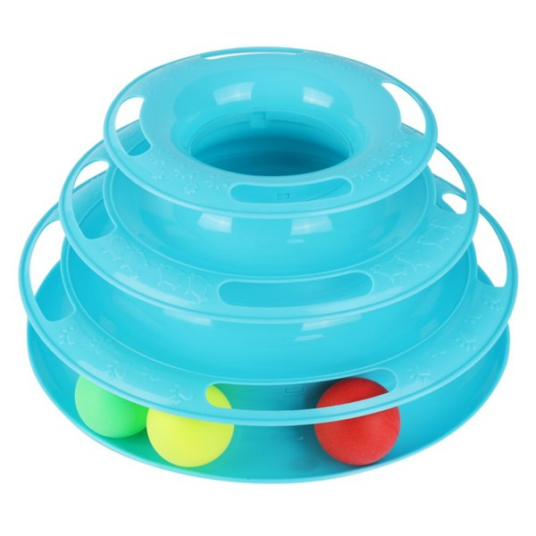 Funny Cat Pet Toy Cat Toys Intelligence Triple Play Disc Cats Toy Balls Cat Crazy Ball Disk Interactive Toy