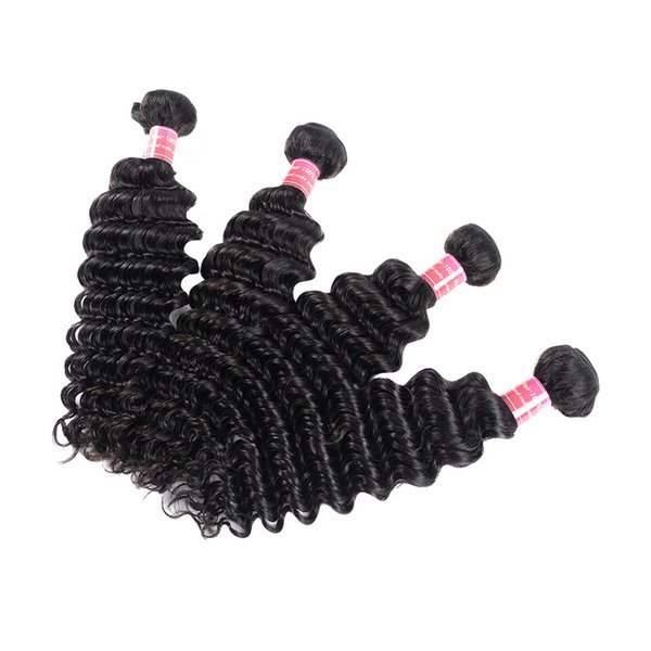 BHF Chinese Deep Wave Hair Extensions 4 Pieces Remy Chinese Virgin Hair With Natural Color Wholesale Human Hair Curly Weave