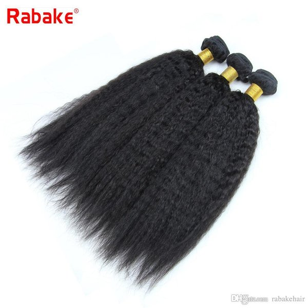 Indian Kinky Straight Virgin Human Hair Bundles 8A Quality Rabake Raw Indian Human Hair Extensions Bulk Fast Shipping Whosale Bundle Deal