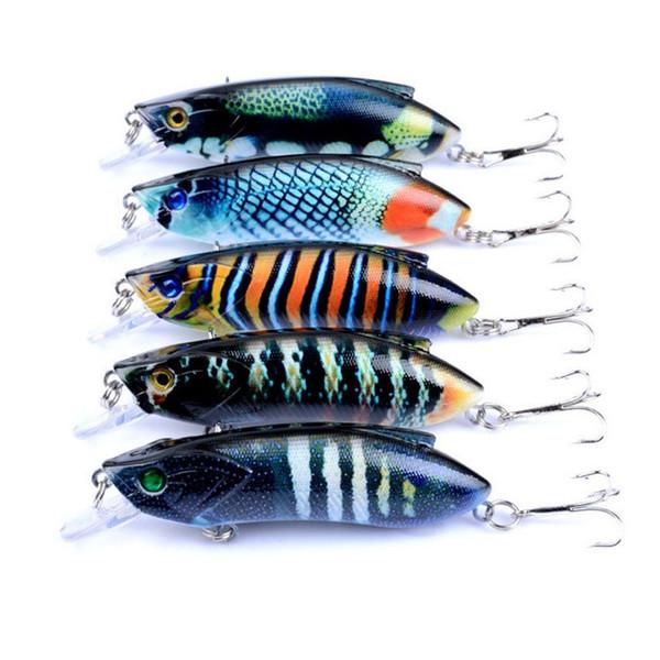 5 Pcs/lot High Quality Fishing Lure 8cm 14.5g Hard Bait Minnow Fishing Lures Bass Fresh Salt Water With 6# Hook Cheap Free Shipping