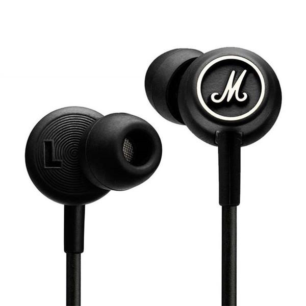 Marshall MODE Headphones In Ear Headset Audífonos negros con micrófono HiFi Ear Buds Headphones Universal para teléfonos móviles Drop Ship