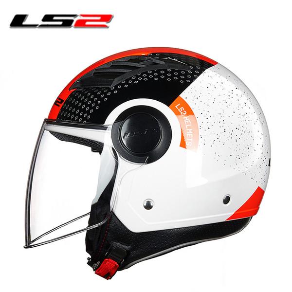 LS2 OF562 airflow open face motorcycle helmet jet scooter half face motorbike helmets man woman original LS2 vespa summer helmet