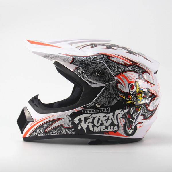 TATAN MEJIA casco de motocross ciclo Cascos moto moto Bicicleta eléctrica Ciclismo ABS Amarillo Negro Blanco S M L XL 1 pc