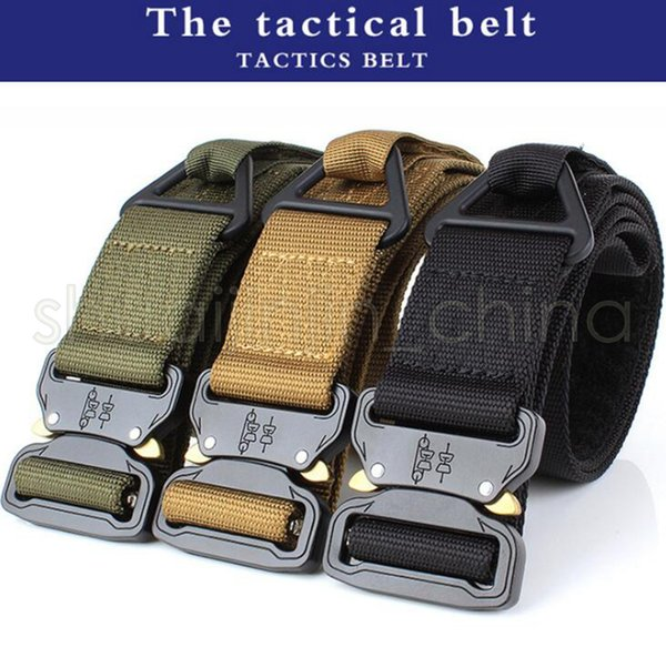 4.5*125CM Quick Release Buckle Belt Quick Dry Safety Belt Training Pure Nylon Duty Out Tactical Belt GGA495 20PCS