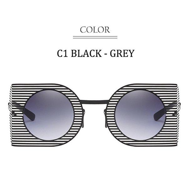 C1 Black Frame Grey Lens
