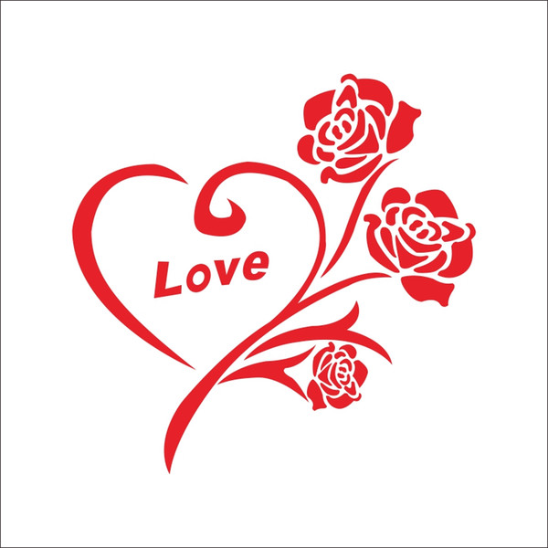 CHM Love Heart - Sign Logo Lema Cita Símbolo Vinilo decorativo Art Sticker Imagen amor corazon regalo de boda etiqueta de l124gh