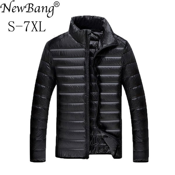 NewBang 5XL 6XL 7XL Duck Down Jacket Men Winter Parkas Men's Feather Ultralight Down Jackets Outwear Plus With Carry Bag