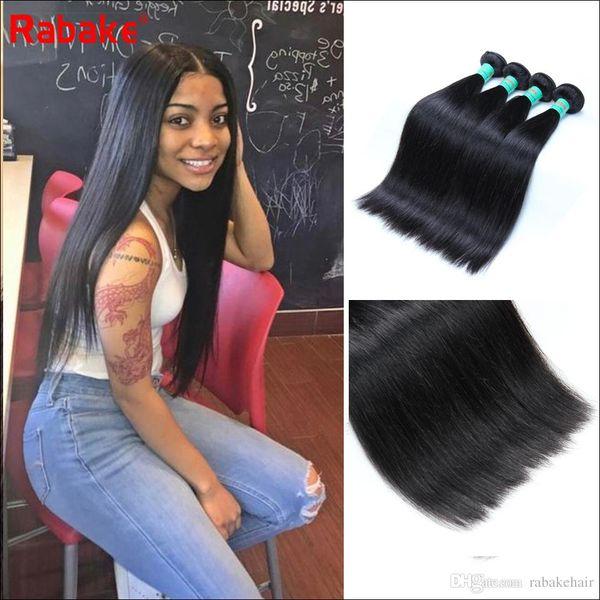 8-28 inch Silky Straight Peruvian Human Hair Bundles Rabake Malaysian Raw Indian Brazilian Virgin Hair Weave Extensions Wholesale Prices