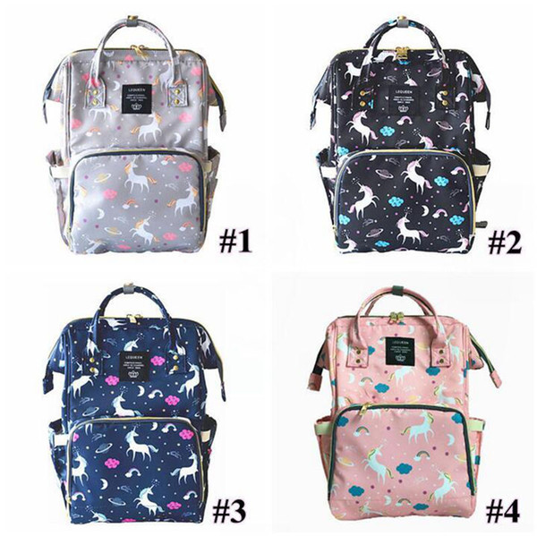 4 ColorsUnicorn Mommy Backpacks Nappies Bags Unicorn Diaper Bags Backpack Maternity Large Capacity Outdoor Travel Bags Home Storage Bag 3pcs