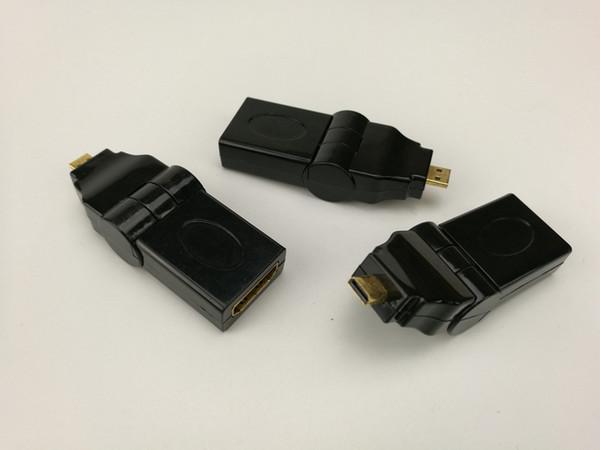 Mikro HDMI ERKEK IÇIN HDMI KADıN 90 derece ayarlanabilir 180 Derece Döner Döner Açılı Adaptörü 100 adet / grup