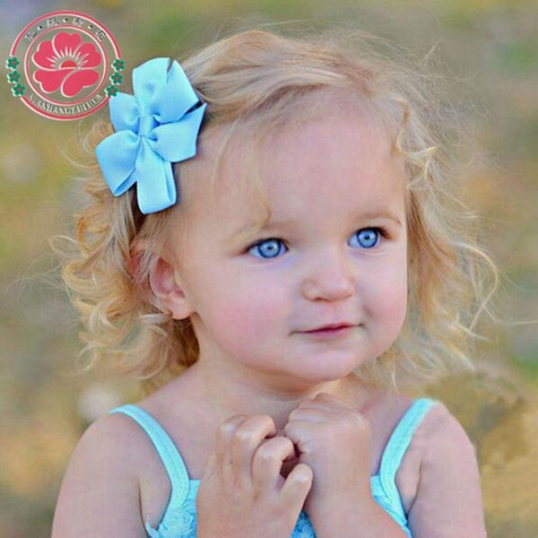 Fashion 3 inch Bows Hair Clips Boutique Hair Pin Grosgrain Ribbon Bows Hairpins Kids Headwear Accessories 564
