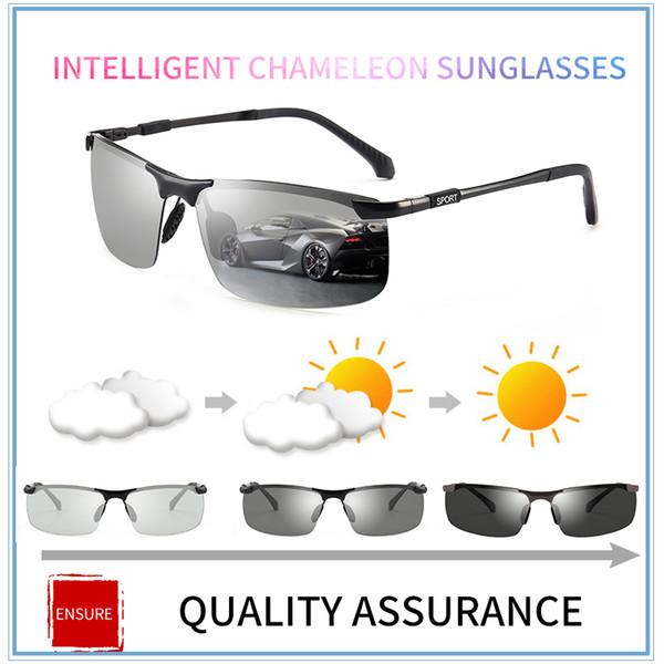 3bad5a807f550 2018 óculos de sol fotocromáticos polarizada condução óculos anti-reflexo  óculos de sol descoloração óculos