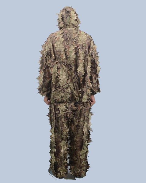 Nuovo prodotto Desert python boa snake pattern camouflage Wildfowling vestiti da caccia 3D ghillie suit Adatto per l'estate Autunno