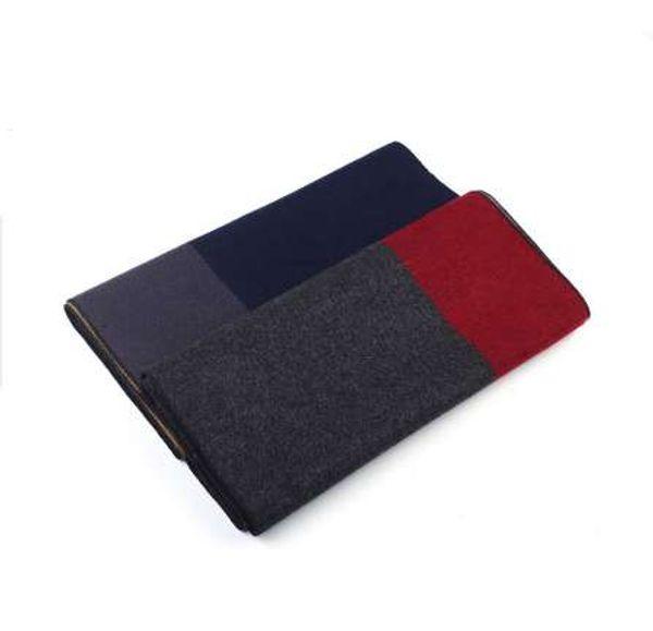 Neue Männer Schal Farbe Vertrag Schalldämpfer Business Casual Männer Schals Halstuch für Männer Winter Schal