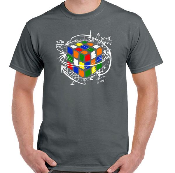 Куб уравнения Рубика мужские смешные ретро футболка Рубикс 80-х Шелдон головоломки Купер